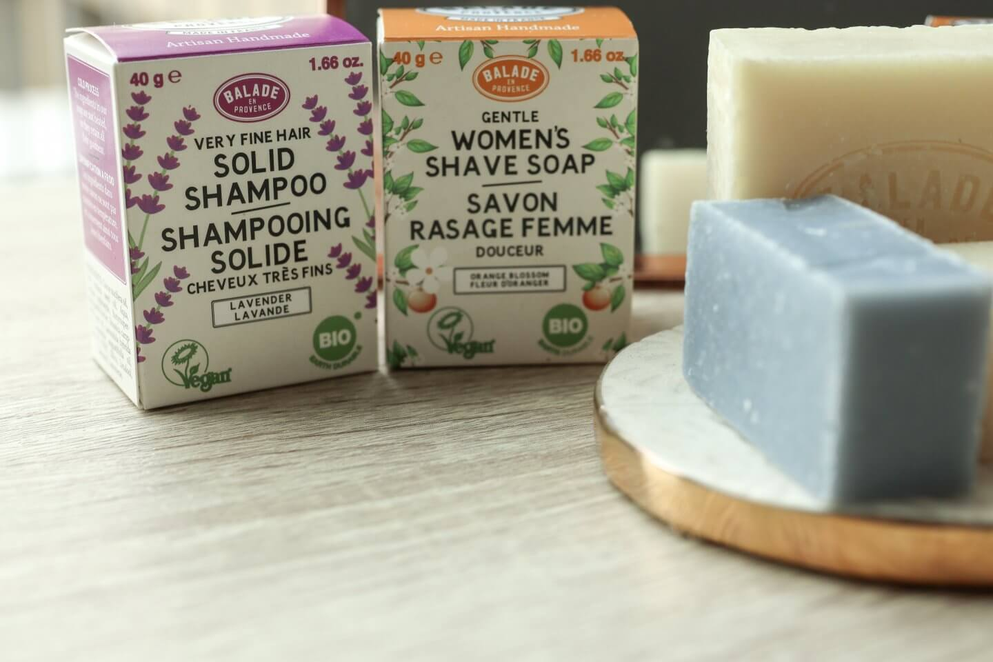 New Vegan Organic Solid Shampoo and Shaving Bar from Balade en Provance