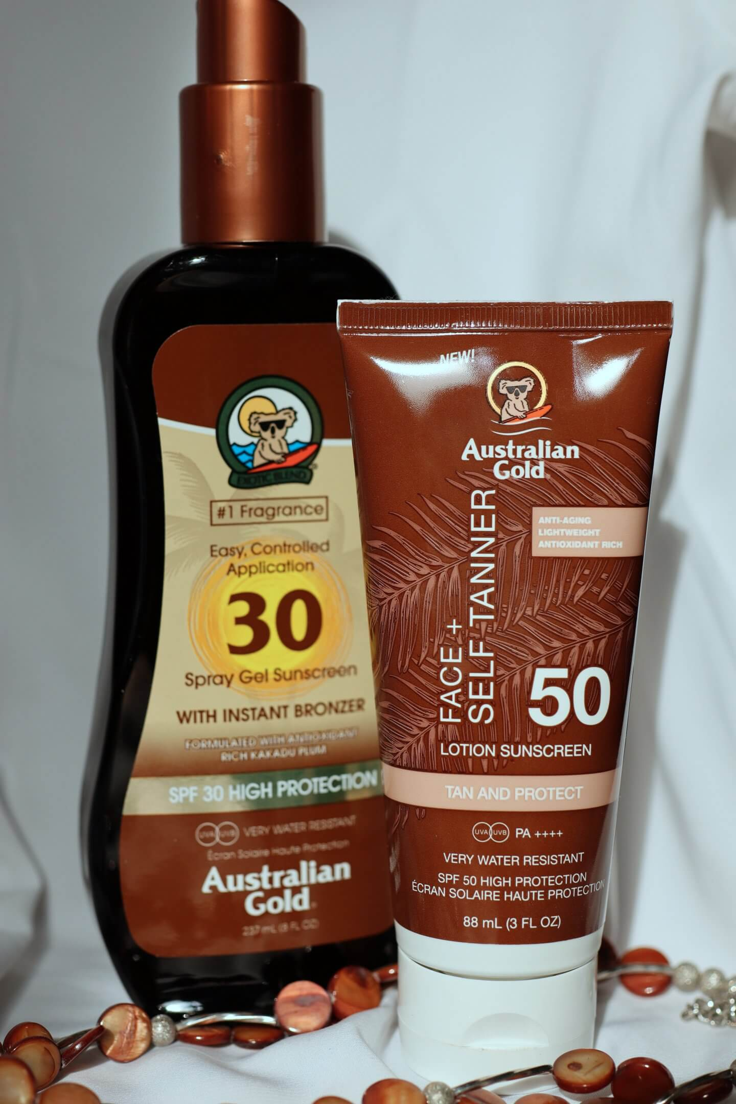 australian gold sustainable tinted sunscreen - actually anna